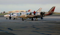 Metropolitan Oakland International Airport (OAK) - (Odd-ball colors) Ameriflight Piper PA-31-350 freighters getting ready to shut down @ Oakland International base - by Steve Nation