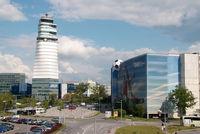 Vienna International Airport, Vienna Austria (VIE) - Parking area and tower - by Yakfreak - VAP