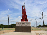 Dallas Executive Airport (RBD) - The entrance sign (from the back) to Dallas Executive (Redbird) Airport - by Zane Adams