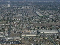 Compton/woodley Airport (CPM) - Compton airport in the middle of it!  - by Iflysky5