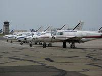 Metropolitan Oakland International Airport (OAK) - Small package carrier Ameriflight Navajos on a Saturday Break - by Steve Nation