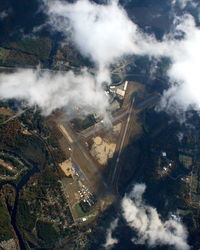 Orange Municipal Airport (ORE) - Orange, MA from 14,000 feet above - by Dave G