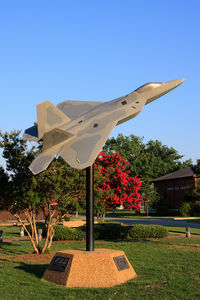 Langley Afb Airport (LFI) - USAF Lockheed Martin F-22A display model displayed on base. - by Dean Heald