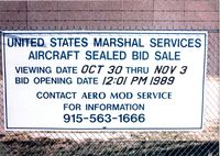 Midland International Airport (MAF) - Auction sign for aircraft at Midland (N7041U - N117GA among others) - by Zane Adams