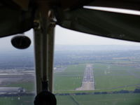Hawarden Airport, Chester, England United Kingdom (EGNR) - Final approach to Hawarden - by chrishall