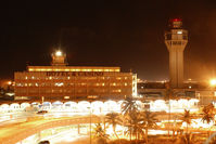 Luis Munoz Marin International Airport (SJU) - SJU terminal in the night - by Hector A Rivera Valentin