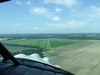 Geneseo Airport (D52) - On final at Geneseo in a Stinson SR-9C. - by Terry L. Swann