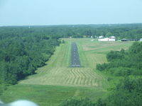 Royalton Airport (9G5) - On final at Royalton in a Stinson SR-9C. - by Terry L. Swann