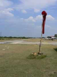 Sycamore Strip Airport (9F9) - Sycamore Field - Runway 35 and windsock - by Zane Adams