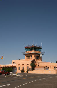Santa Fe Municipal Airport (SAF) - Santa Fe Municipal  - Terminal Building and Tower built in the Santa Fe southwest style in 1957 - by Zane Adams