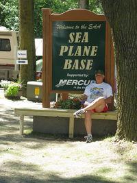 Vette/blust Seaplane Base (96WI) - Vette/Blust EAA Seaplane Base, Welcome Sign - by Doug Robertson