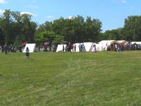 Fairfield County Airport (LHQ) - Civil war exhibit at the Wings of Victory airshow - Lancaster, Ohio - by Bob Simmermon