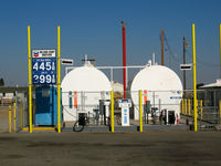 Shafter-minter Field Airport (MIT) - Inland Cropdusters Gas Pumps at Minter Field (note helo deck on top) - by Steve Nation