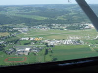Dansville Municipal Airport (DSV) - On downwind at Dansville, NY. - by Terry L. Swann