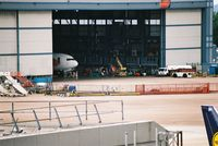 Manchester Airport, Manchester, England United Kingdom (EGCC) - shot taken from the carpark level13 TCX/MYT maint hanger - by andy baker