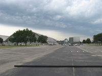 Wright-patterson Afb Airport (FFO) - Museum hangars, partial, with main entrance - by Doug Robertson