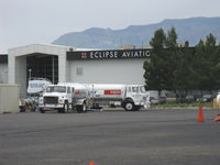 Albuquerque International Sunport Airport (ABQ) - Eclipse Aviation-EA500 Jet, Flight Test/Customer Delivery Hangar and Offices - by Doug Robertson