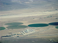 Barstow-daggett Airport (DAG) - Daggett-Barstow Airport, CA. from 8,500' msl looking North - by Doug Robertson