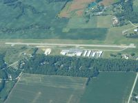 Clinton Field Airport (I66) - Looking west from 5500' - by Bob Simmermon