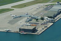 Toronto City Centre Airport - Toronto City Airport from the CN Tower - by David Burrell