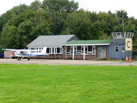 Bourn Airport - Club aircraft outside the club house - by chris hall