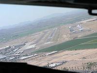 Phoenix Goodyear Airport (GYR) - Right base to runway 21 at Goodyear - by John J. Boling