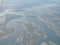 Possum Kingdom Airport (F35) - Can you find the airport? Right upper corner of the picture is the N/S Rwy. This picture was taken while looking North. - by B.Pine