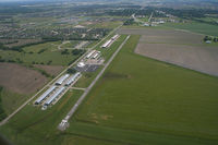 Gardner Municipal Airport (K34) - Aerial view of Gardner Muni during Gathering of Eagles - by Tim Gerlach