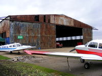 Panshanger Airport - The Hangar at Panshangar - by chris hall