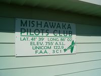 Mishawaka Pilots Club Airport (3C1) - Sign on the FBO building. - by IndyPilot63