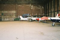 City Airport Manchester, Manchester, England United Kingdom (EGCB) - some aircraft in one of the hangers at barton-uk - by andy baker