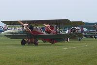 La Ferté-Alais Airport - Temps de hélices/Prop time: Busy with old flying machine - by Alex Smit
