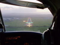 Hawarden Airport, Chester, England United Kingdom (EGNR) - short finals into Hawarden, its just started raining - by chris hall