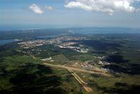 Biscarrosse Airport, Parentis Airport France (LFBS) - Airport, Village, Biscarrosse city, lacs and Ocean - by Vincent LEBAS
