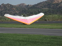 Santa Paula Airport (SZP) - Repealing the Law of Gravity-Hang Glider launching from level ground-Crash - by Doug Robertson