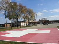 St Elizabeth Hospital Heliport (8MN7) - St. Elizabeth's Medical Center in Wabasha, MN. - by Mitch Sando