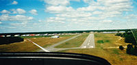Plymouth Municipal Airport (PYM) - Landing on RW33 in Glider (prop is feathered back) - by Mark Silvestri
