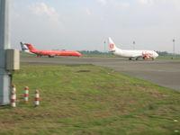 Soekarno-Hatta International Airport, Cengkareng, Banten (near Jakarta) Indonesia (WIII) - More repairs needed at Jakarta - by John J. Boling