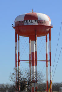 Mineral Wells Airport (MWL) - Water tower left over from the former Wolters AFB - by Zane Adams