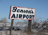 Benson Airport (6MN9) - The airport road sign - by Timothy Aanerud