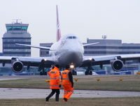 Manchester Airport, Manchester, England United Kingdom (EGCC) - The spotters at Manchester can get very close to the action - by chris hall