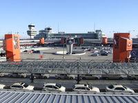 Tegel International Airport (closing in 2011), Berlin Germany (EDDT) - Berlin Tegel, looking across the hexagonal terminal at the main terminal building and tower - by Ingo Warnecke