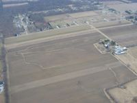 Rall Field Airport (32OH) - Looking SE from 2500' - by Bob Simmermon