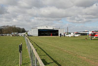 Lashenden/Headcorn Airport, Maidstone, England United Kingdom (EGKH) - Looking towards the Maint Hangar from the public area. - by Martin Browne