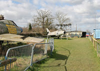 Lashenden/Headcorn Airport, Maidstone, England United Kingdom (EGKH) - View towards the Parachute Club from the Museum. - by Martin Browne