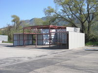 Santa Paula Airport (SZP) - New Trailer/Hangar with hitch-Under Construction. - by Doug Robertson