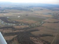 Ross County Airport (RZT) - Left downwind for RWY 5 - by Bob Simmermon