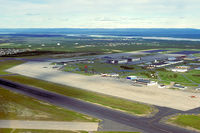 CFB Goose Bay (Goose Bay Airport) - Goose Bay overview taken out of a LAB Air Otter C-GLJH (Kodachrome slide scan) - by FBE