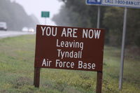 Tyndall Afb Airport (PAM) - Sign from Tyndall AFB - by Mark Silvestri
