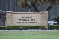Tyndall Afb Airport (PAM) - Entrance to Tyndall AFB - by Mark Silvestri